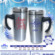 16 Oz. Stainless Steel Travel Mugs – only $5.99!