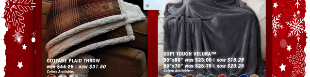 Light weight extra soft throw blankets